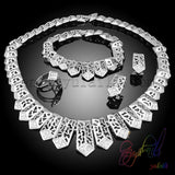 2016 Round hollow out silver and gold-color jewelry sets female wholesale Egyptian custom accessory jewelry sets