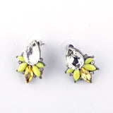 Mixed Vintage Crystal Fashion Stud Earring  - 9-colors