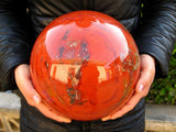 28.9lb HUGE NATURAL RED jasper quartz crystal sphere ball healing - FREE SHIPPING