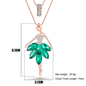 Dance BALLET Necklace Chain Pendant - 4-colors