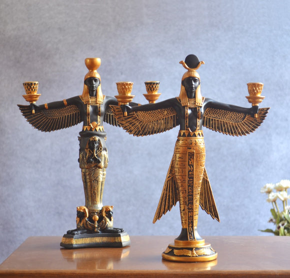 Creative home decorations resin ornaments crafts ancient Egyptian classic candle holder