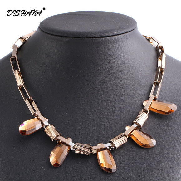Fashion Two Colors Women Choker Necklace Titanium Plated Crystal Jewelry Necklaces&Pendants for Women Dress(X0231)