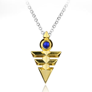Pyramid Egyptian Eye Of Horus Yu-Gi-Oh Necklace  Link Chain Necklace
