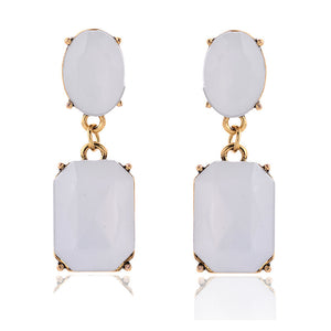 Square Candy Drop Earrings Pendant Fashion Jewelry for Women - 9-color variations