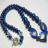 Real Natural Egyptian Lapis Lazuli Beads Necklace