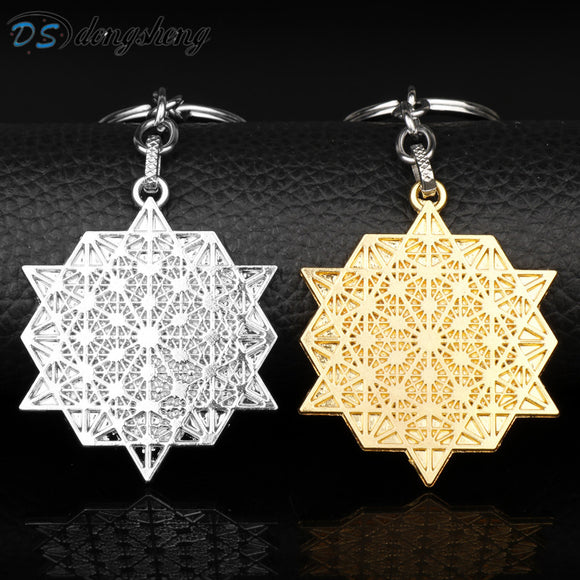 Flower of Life Keychain Jewelry Tibetan Egyptian Keychain for Women / Men Key Chain Keyring Chaveiro