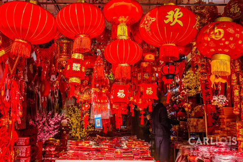 Chinese red lanterns Shanghai China
