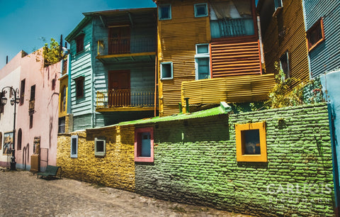 Colourful Buildings at Caminito in La Boca, Buenos Aires, Argentina