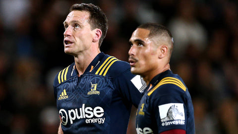 Aaron Smith and Ben Smith at the Highlanders