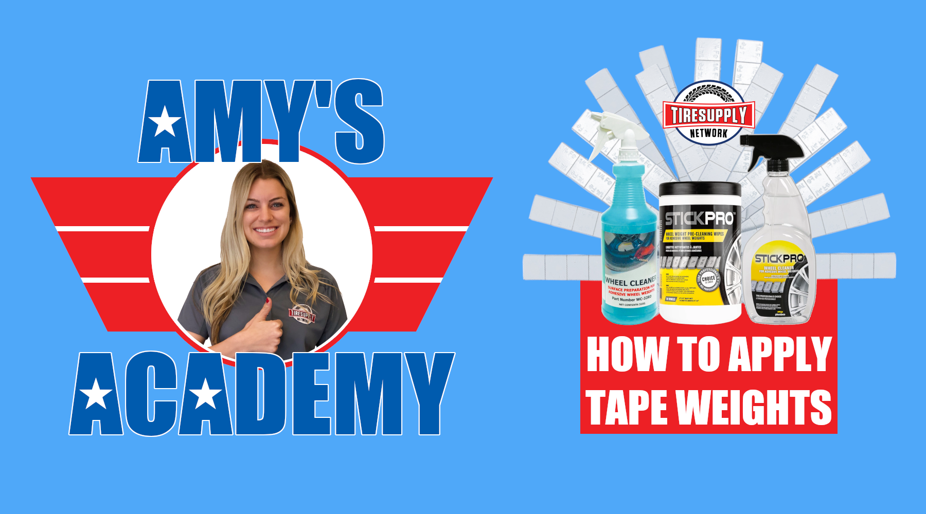 Amy's Academy | How To Apply Tape Wheel Weights