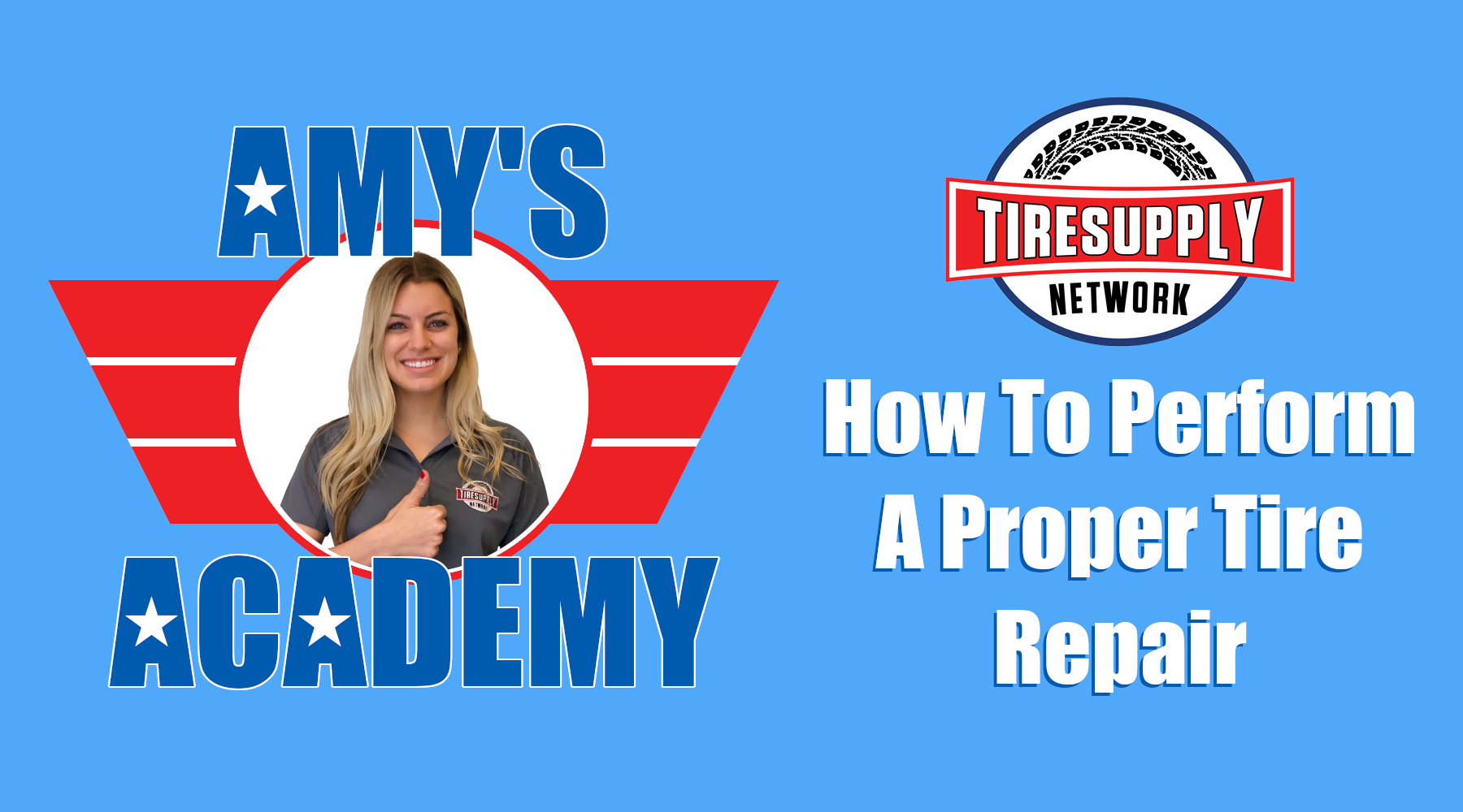 Amy's Academy | Check out our new TIRE REPAIR PROCEDURE video!
