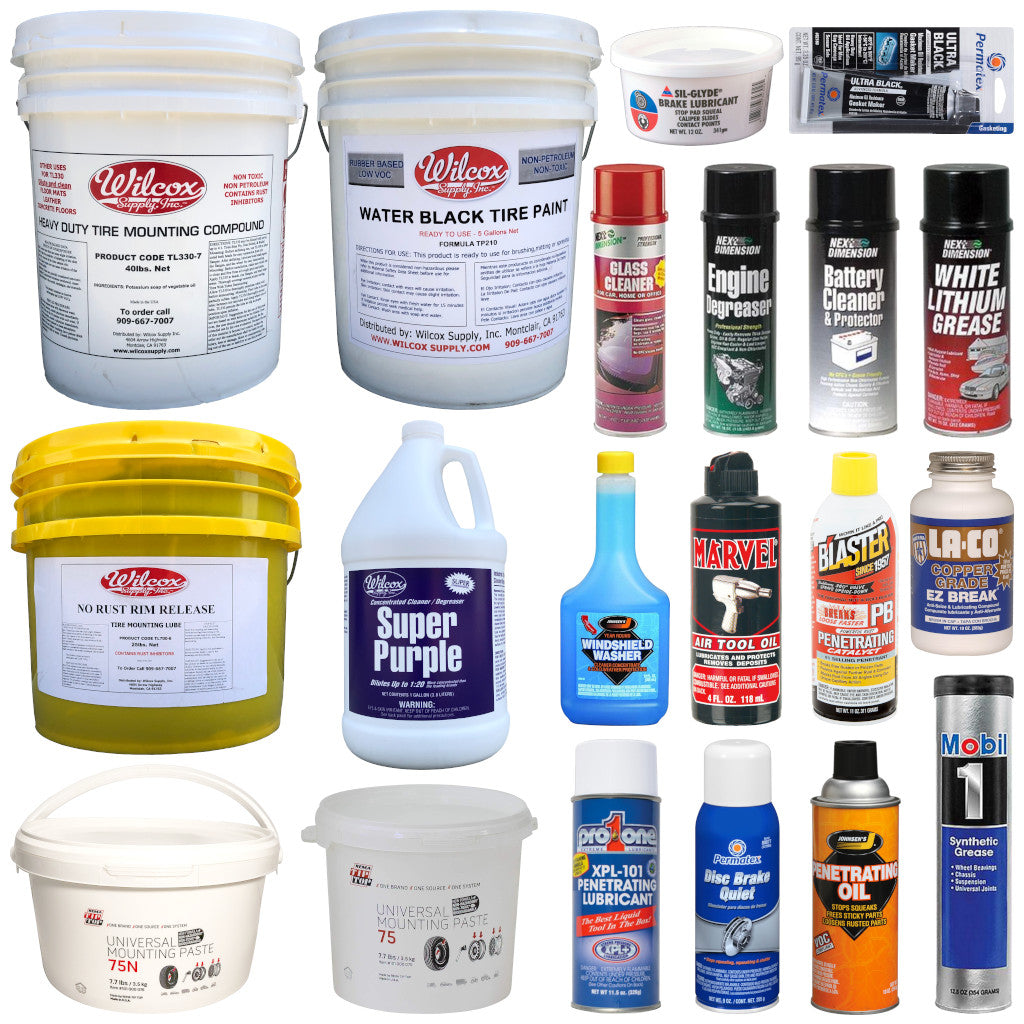 Tire Lube, Paste, Paint, & Other Chemicals