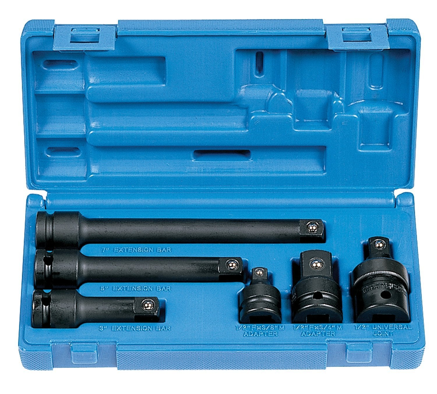 "6 Piece ½"" Drive Impact Socket Adapter & Impact Socket Extension Set"
