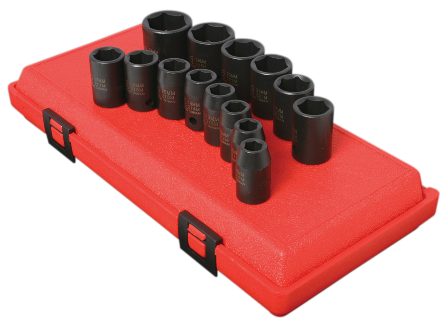 "Impact Socket Set - 1/2"" Drive (14 Piece Metric)"