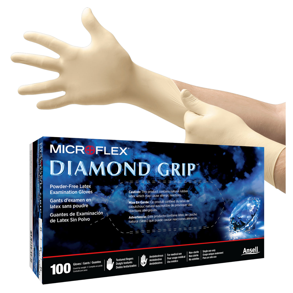 Diamond Grip Latex Gloves (MF-300)