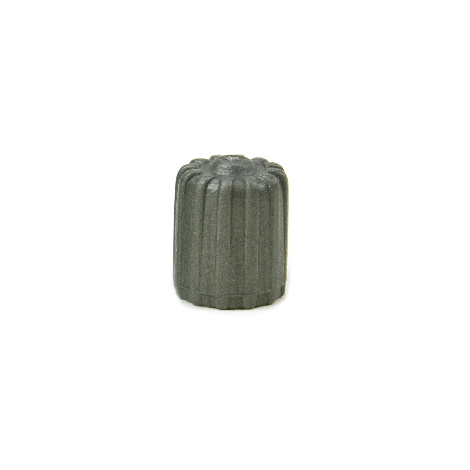 Plastic Valve Cap with Seal, Gray (100 Pack)
