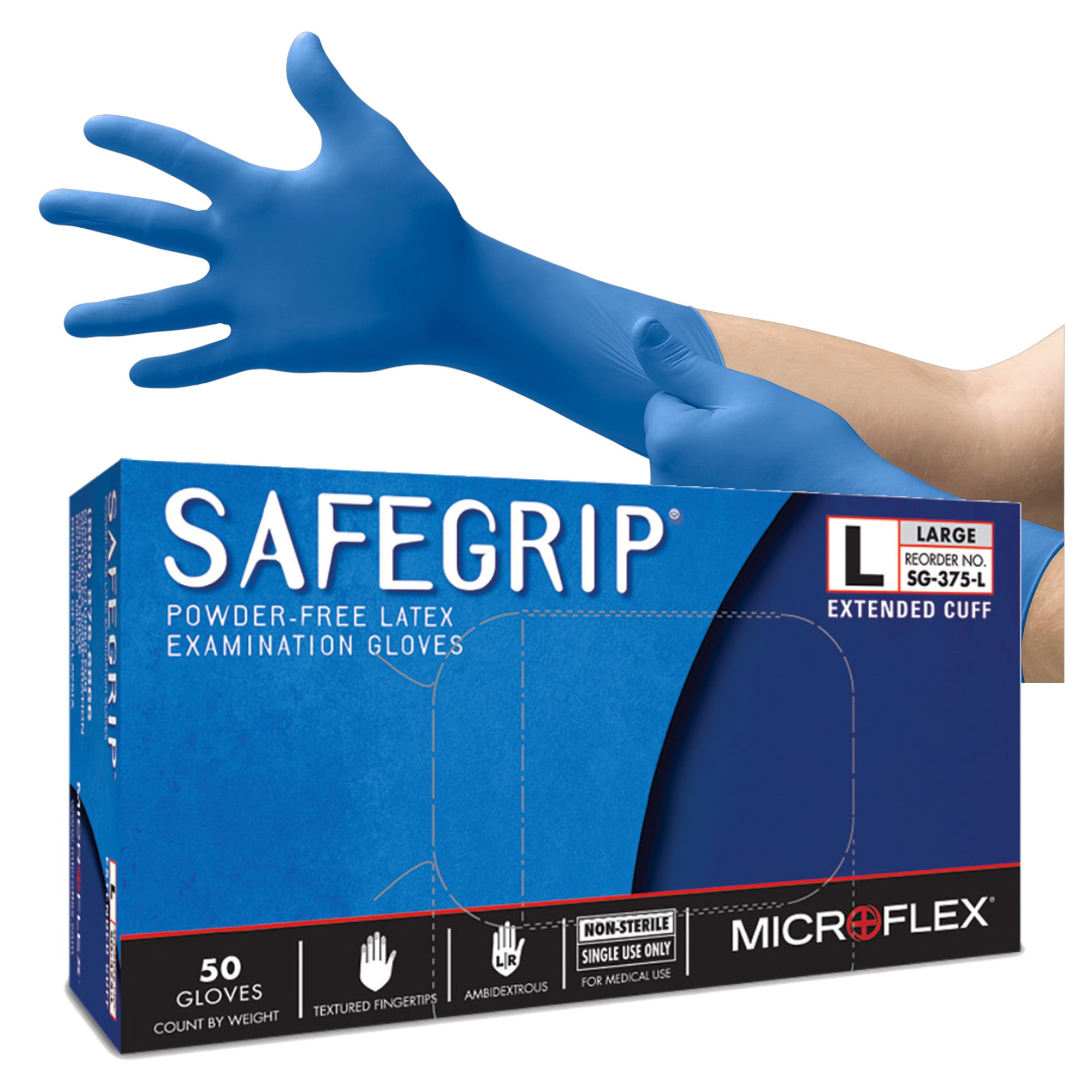 SafeGrip Latex Gloves (Powder Free) (SG-375)