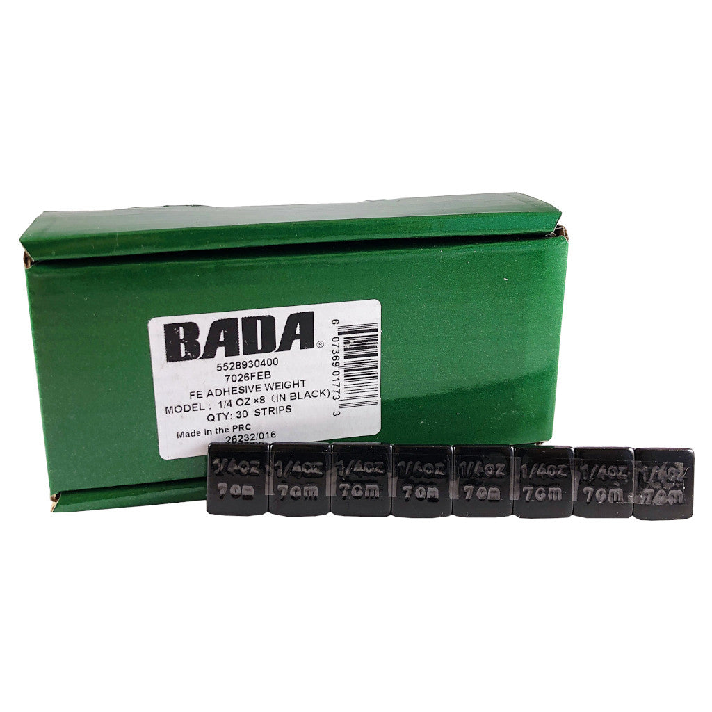 BADA 7026FEB Black Steel 1/4 oz Low Profile Stick-On Adhesive Tape-A-Weight