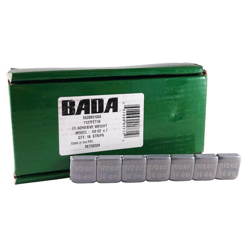 BADA 7127FET18 Steel 1/2 oz Truck Stick-On Adhesive Tape-A-Weight