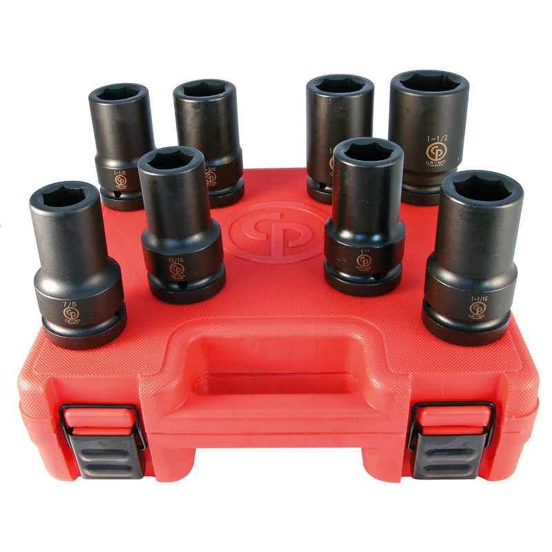Chicago Pneumatic CP SS808D - 1″ Drive 8 Piece SAE Deep Impact Socket Set