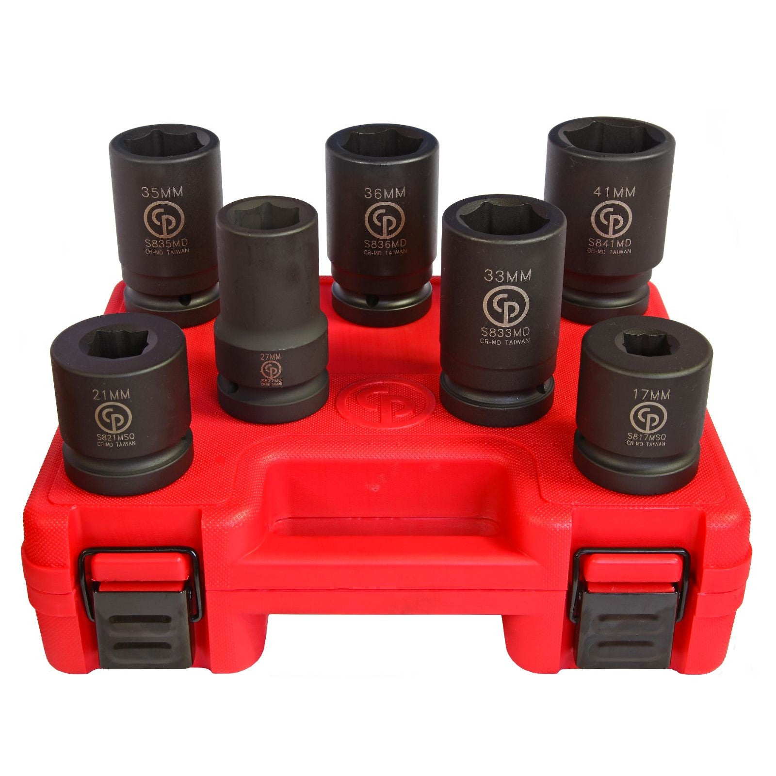Chicago Pneumatic CP SS8107WS - 1″ Drive 7 Piece Metric Deep Impact Socket Set