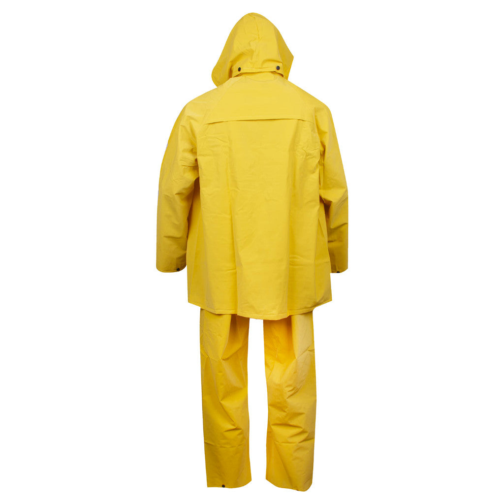 Cordova Safety Products RS353Y StormFront-HV 3-Piece Yellow Rain Suit - Choose Size