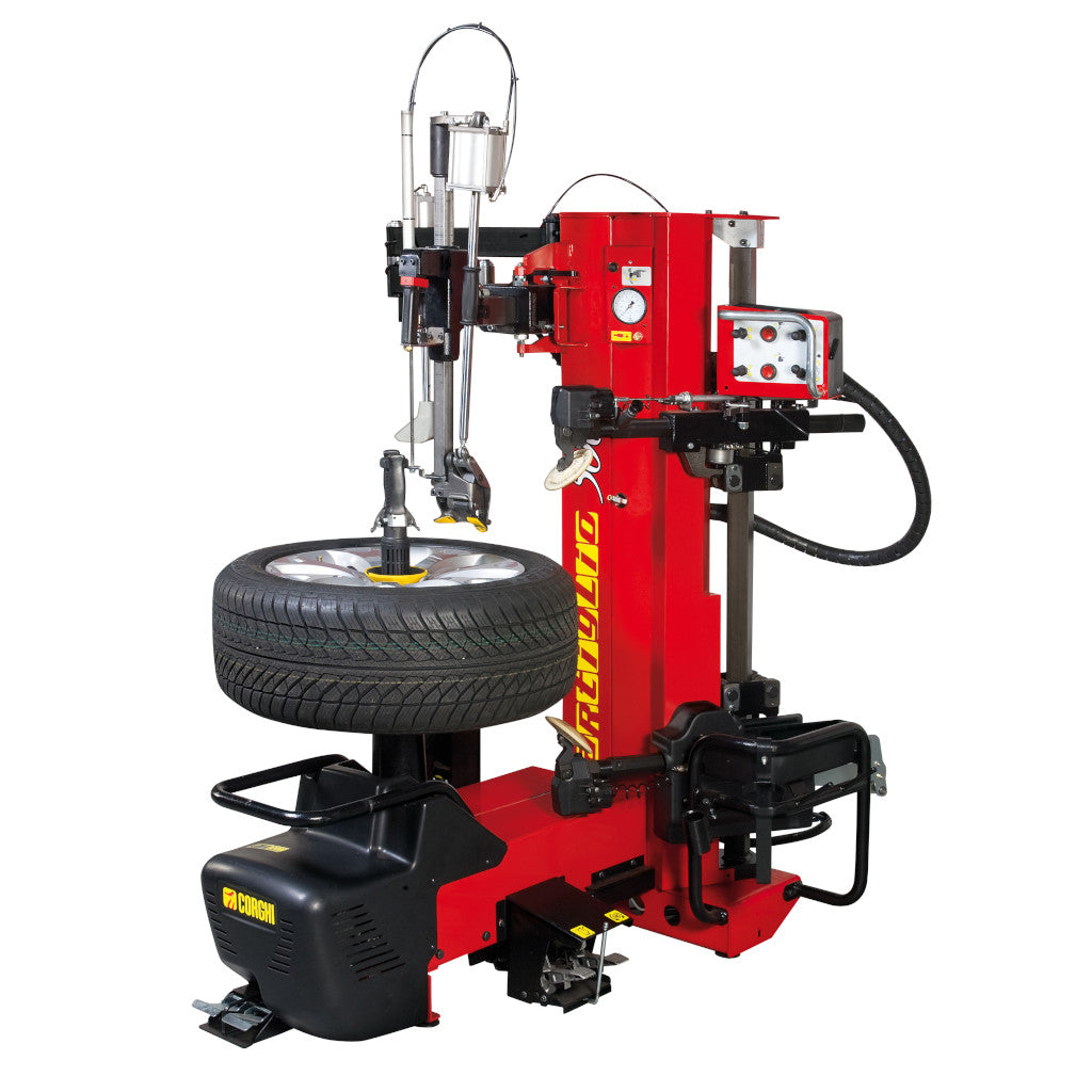Corghi AM500 Artiglio 500 Electric Leverless Tire Changer with BPT Helper Assist Arm
