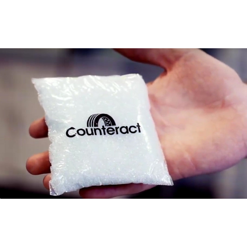 Counteract Tire Balancing Beads 10 oz. Drop-In Bag with Valve Cap and Valve Core
