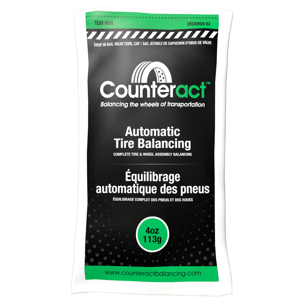 Counteract Tire Balancing Beads 4 oz. Drop-In Bag with Valve Cap and Valve Core