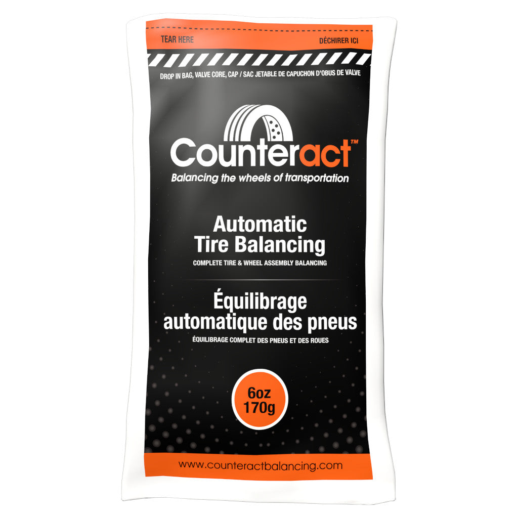 Counteract Tire Balancing Beads 6 oz. Drop-In Bag with Valve Cap and Valve Core