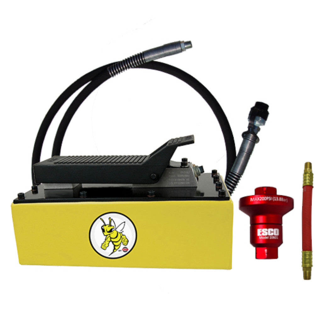 ESCO 10877C Yellow Jackit 5 Quart Metal Reservoir Air Hydraulic Pump Kit