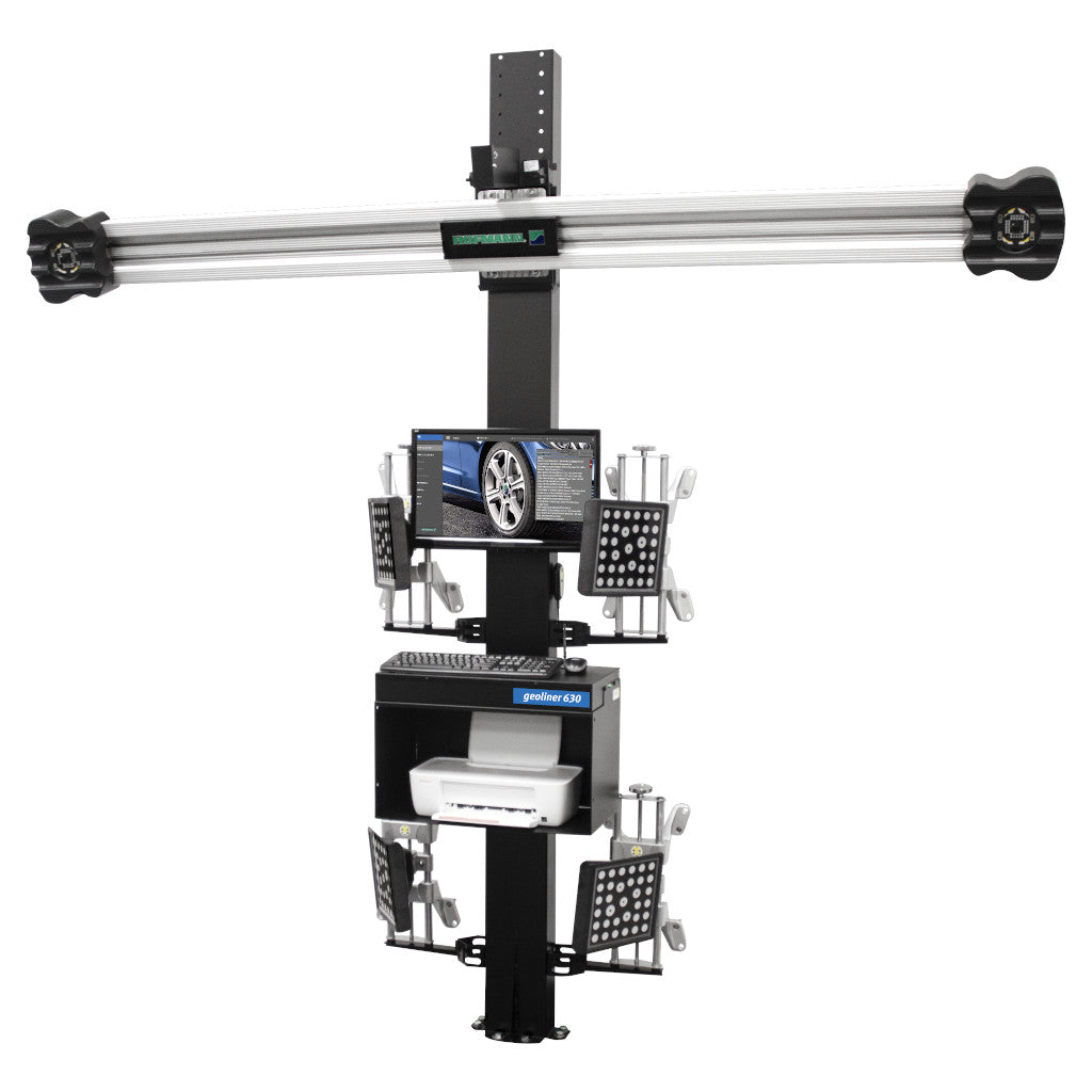 Hofmann Wheel Alignment Combo: Geoliner 630 Aligner, EELR728APKG 12K 4-Post Lift, and Accessories