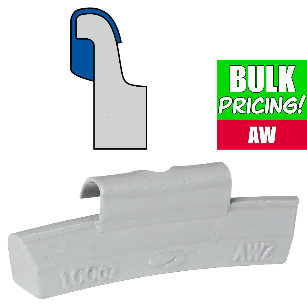 Plombco AW-Style Coated Zinc Clip-On Wheel Weights - Choose Size or Bulk Set
