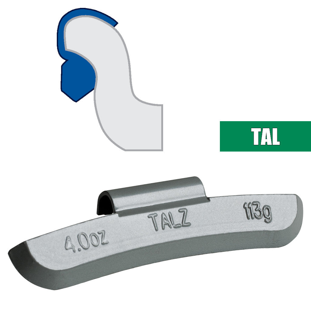 Plombco TAL-Style Coated Zinc Clip-On Wheel Weights - Choose Size