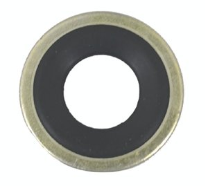 Drain Plug Gasket with Rubber Ring - 12mm Steel (25 Gaskets per Bag)