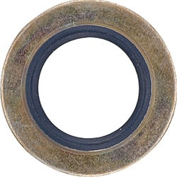 Drain Plug Gasket with Rubber Ring - 14mm Steel (25 Gaskets per Bag)