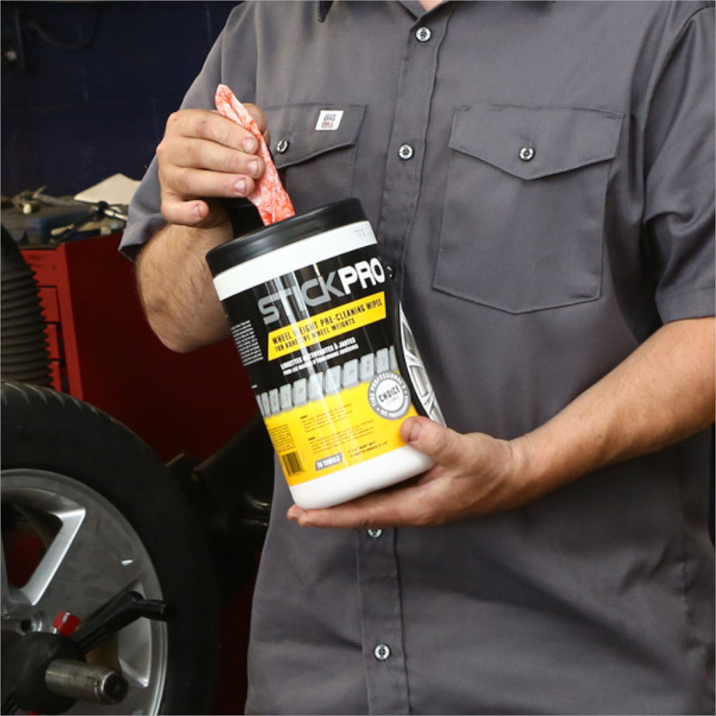 StickPro 44012 Wheel Weight Pre-Cleaning Wipes for Adhesive Wheel Weights