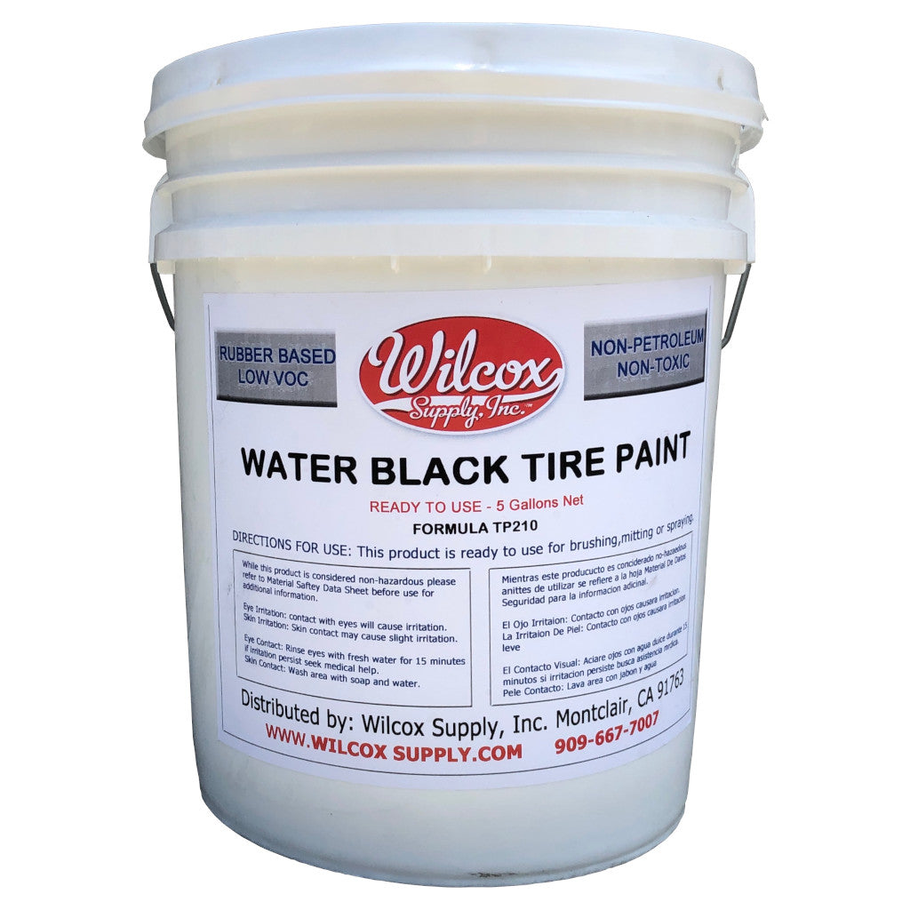 Water Black Tire Paint - 5 Gallon