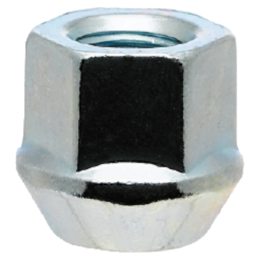 White Knight 1309-1S Chrome Open-End Bulge 3/4″ Hex Lug Nut - Thread Size 14mm x 1.50 - Box of 50