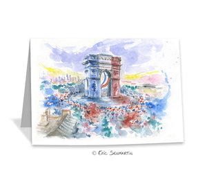 Carte PARIS Triomphe Bleu Blanc Rouge