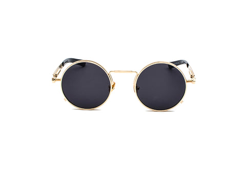 ROUND SUNGLASSES GOLD