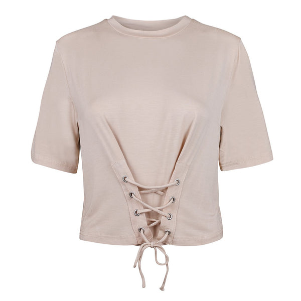 TIED-UP TOP BEIGE ROSA