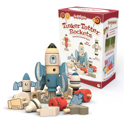 Begin Again Tinker Totter - Cohetes de Madera