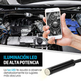 Redlemon Cámara Endoscopio de 1m Micro USB-OTG, Luz LED, Resistente al Agua, Compatible con Android y Windows