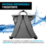 Redlemon Mochila para Laptop Antirrobo con Broche Ajustable, Puerto USB para Power Bank, Resistente al Agua