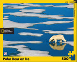 Polar Bear on Ice - Rompecabezas 500 piezas