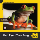 Red Eyed Tree Frog - Mini Rompecabezas 100 piezas
