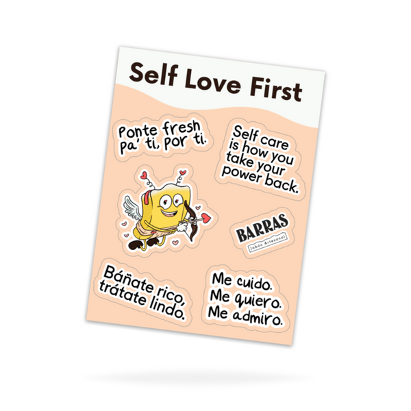 """Self Love First"" Premium Sticker Sheet"
