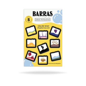 9 Mini Barras | Sticker sheet