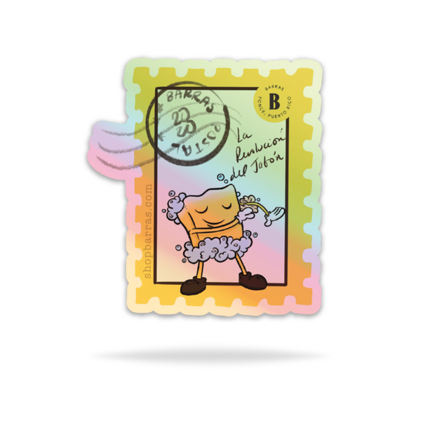 Retro Stamp Holographic | Sticker